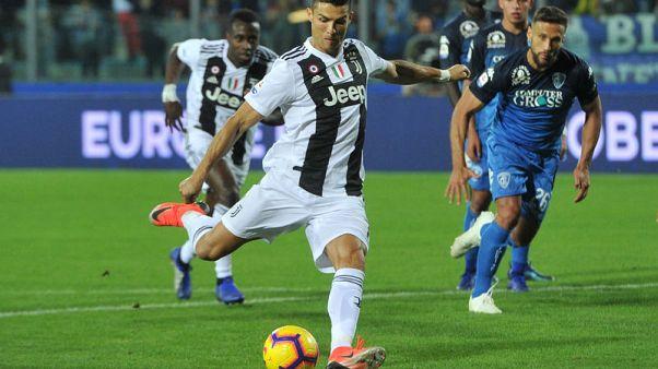 Ronaldo scores twice as Juve overcome fright to win at Empoli