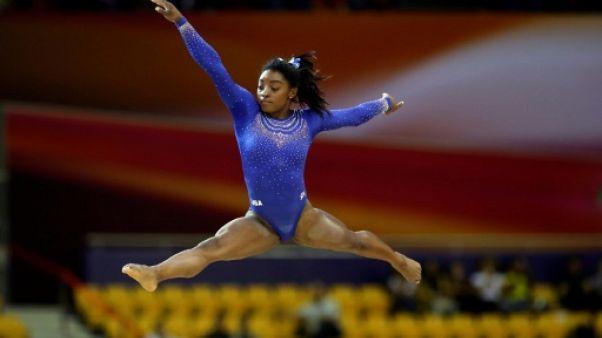 Gymnastique: malgré un calcul rénal, Biles brille pour son retour