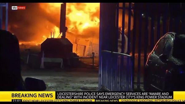 Leicester: patron club era su elicottero