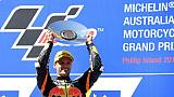 Moto2: victoire de Binder au GP d'Australie, statu quo entre Bagnaia et Oliveira
