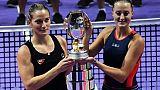 Tennis: Mladenovic remporte le double du Masters de Singapour avec la Hongroise Timea Babos