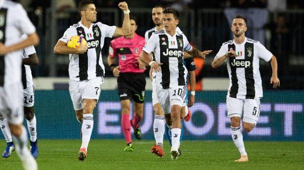 Juve: Ronaldo esalta gruppo sui social