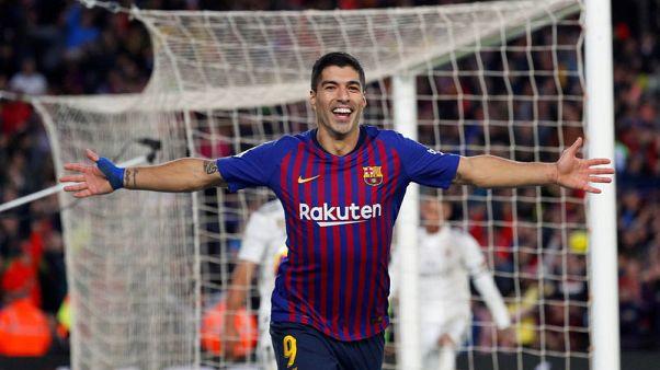 برشلونة يسحق ريال بخماسية وسواريز يعجل بنهاية لوبتيجي