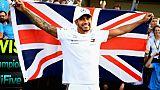 """F1: Hamilton (Mercedes) """"très heureux de voir (son) nom au côté de celui de Fangio"""""""