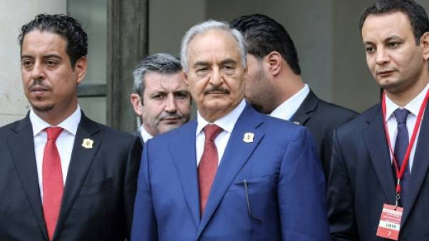 Le maréchal Khalifa Haftar à Paris le 29 mai 2018