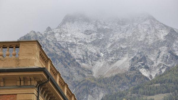 Valle d'Aosta,allerta fino a martedì