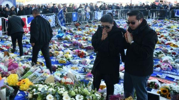 La famille du président du club de foot de Leicester City lui rend hommage