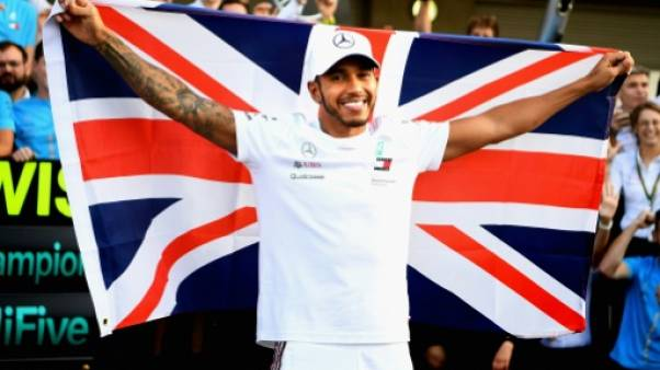 Le Britannique Lewis Hamilton vainqueur du GP de Mexico le 28 octobre 2018