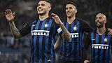 Lazio-Inter 0-3, nerazzurri secondi