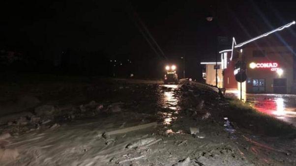 Maltempo, torrente esonda in Trentino