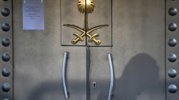 Les portes du consulat d'Arabie Saoudite à Istanbul, le 29 octobre 2018