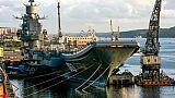 L'unique porte-avions russe endommagé lors de travaux de réparation