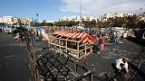 African migrants rebuild Casablanca camp destroyed by fire