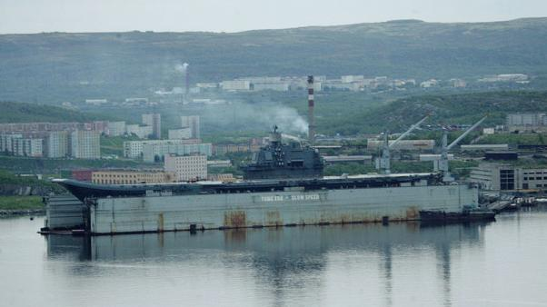 Russia's only aircraft carrier damaged after floating dock sinks