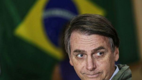 Le président élu du Brésil, Jair Bolsonaro, vote à Rio le 28 octobrte 2018