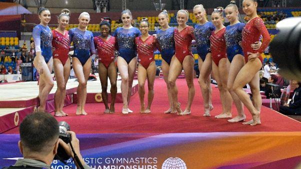Mondiali artistica,Usa oro squadre donne