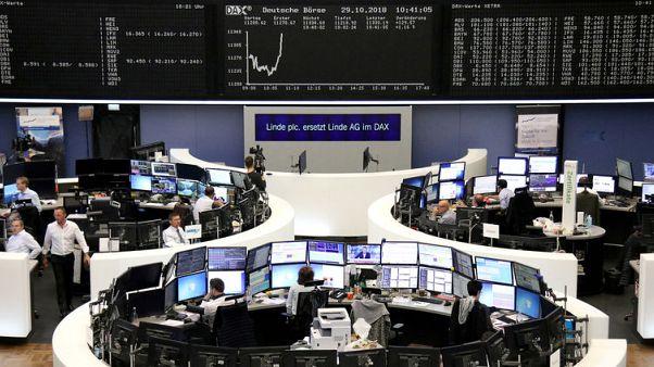 الأسهم الأوروبية تغلق منخفضة تحت ضغط نتائج مالية مخيبة للآمال