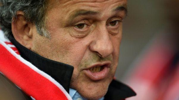 Michel Platini lors du match entre Nancy et Saint-Etienne le 20 mai 2017