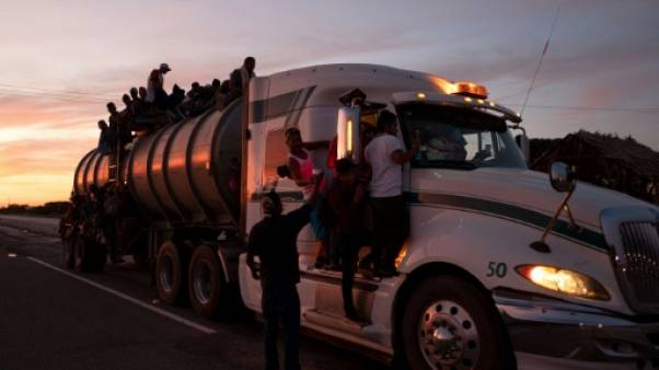 Une seconde caravane de migrants progresse dans le sud du Mexique
