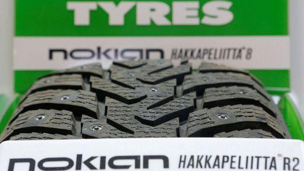 Tyre maker Nokian trims profit view as quarter three sales fall in Russia, Nordics
