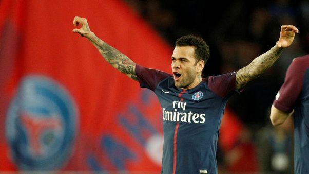Dani Alves trains with team mates eyeing PSG return