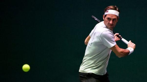 Le Suisse Roger Federer à l'entraînement, à Paris, le 30 octobre 2018