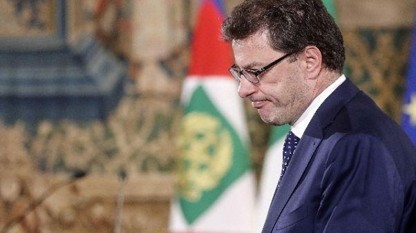 Coni: Giorgetti, avrà ancora fondi 2019