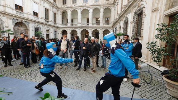 Scherma: show studenti a Palazzo Altemps