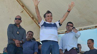 Life's a beach for Brazil's Bolsonaro as spaceman joins his team