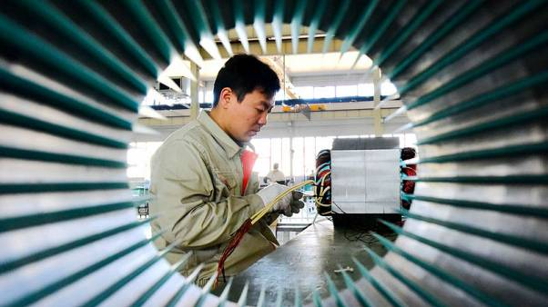China's factory sector barely grows in October, export orders extend slump: Caixin PMI