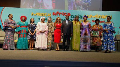 Le Président du Sénégal, S.E. MACKY SALL préside la conférence de la Fondation Merck sur le développement des capacités de soins de santé en Afrique et en Asie