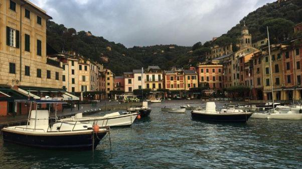 Portofino, chiuso sentiero emergenza