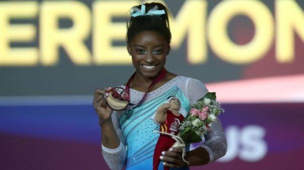 Mondiaux de gymnastique: Simone Biles puissance quatre au concours général