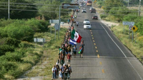 Mexique: la première caravane de migrants reprend sa route vers les Etats-Unis