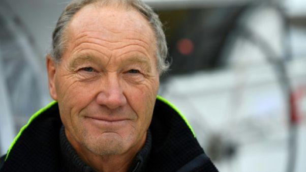Le skipper français Francis Joyon à Saint-Malo, le 1er novembre 2018
