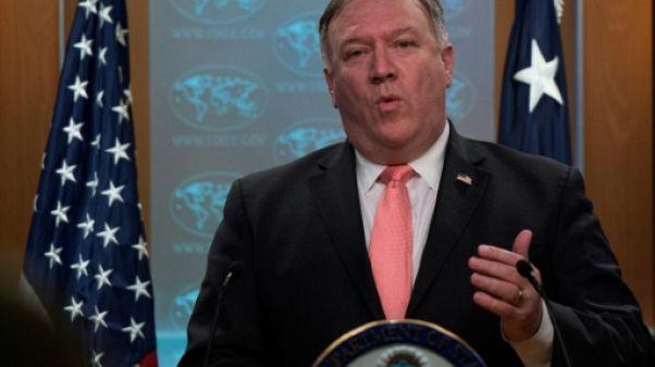 Le secrétaire d'Etat américain Mike Pompeo, le 23 octobre 2018 à Washington