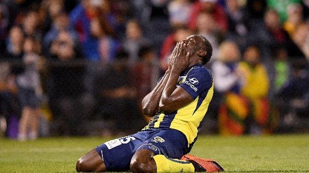 'Sfuma' il sogno del calcio di Bolt