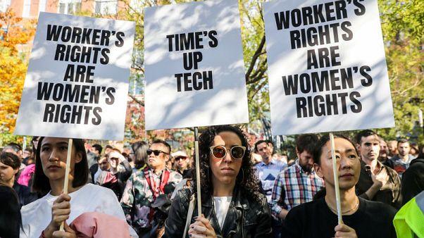الآلاف من موظفي جوجل يتركون مكاتبهم مطالبين بحقوق المرأة