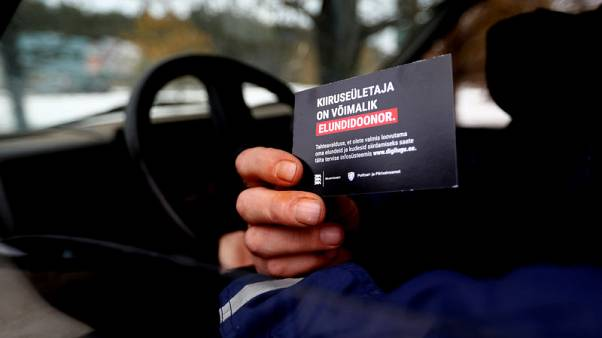 Donor cards show speeding Estonians risks of the road