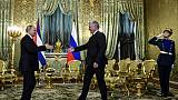 Poutine reçoit le président cubain pour sa première visite en Russie