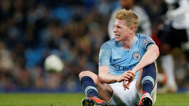 دي بروين لاعب مانشستر سيتي يغيب ستة أسابيع بسبب الاصابة