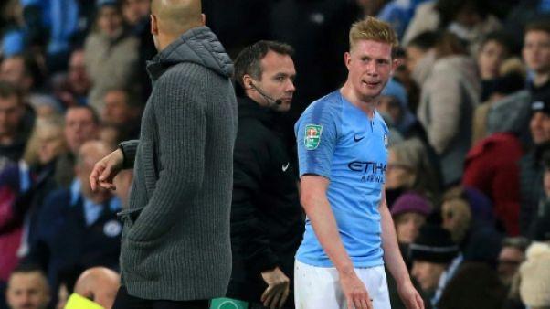 """Manchester City: De Bruyne absent """"entre 5 et 6 semaines"""""""