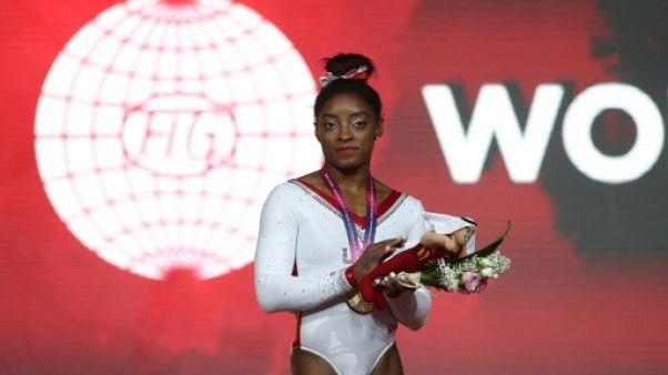 Mondiaux de gymnastique: l'Américaine Simone Biles sacrée au saut, son 13e titre