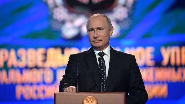 Putin praises skills of GRU spy agency accused of UK poison attack