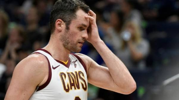 L'ailier fort de Cleveland Kevin Love à Minneapolis le 19 octobre 2018