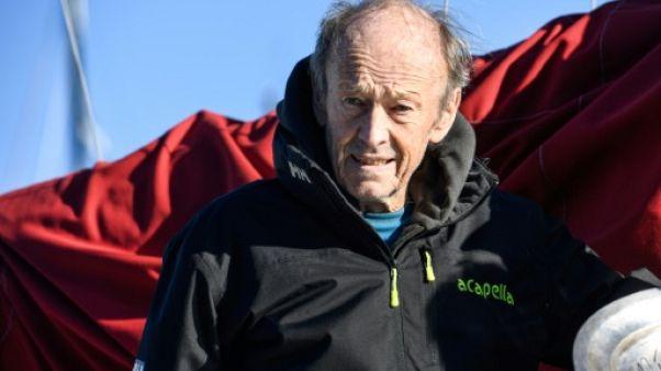 Route du Rhum: premier vainqueur, Mike Birch ému à Saint-Malo du haut de ses 87 ans