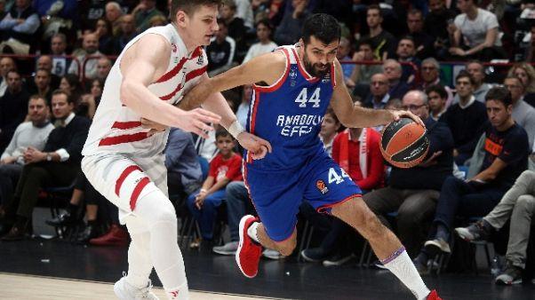 Eurobasket: Milano-Anadolu Efes 81-80