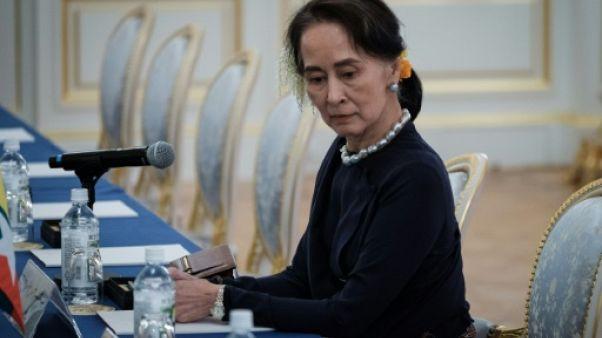 La dirigeante birmane Aung San Suu Kyi à Tokyo, Japon, le 9 octobre 2018