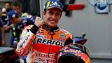 Dominant Marquez on pole after Malaysia storm
