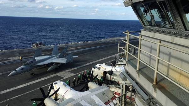 U.S. carrier leads warships in biggest ever Japan defence war game